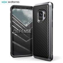 삼성 갤럭시 S9 S9 플러스 커버 X Doria 국방 럭스 케이스 군사 학년 드롭 테스트 알루미늄 보호 휴대 전화 케이스
