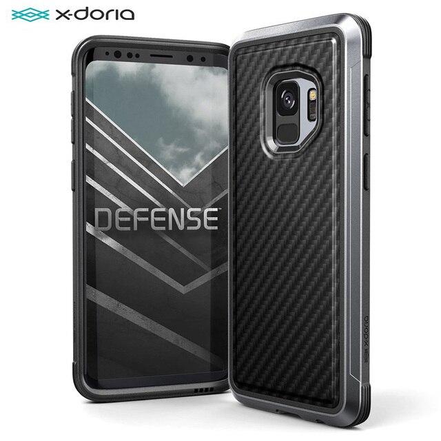 X Doria Verdediging Lux Case Voor Samsung Galaxy S9 S9 Plus Cover Militaire Grade Drop Getest Aluminium Beschermende Mobiele telefoon Case