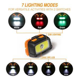 Image 4 - Налобный фонарь EverBrite, светодиодный, 3000 лм, 7 режимов освещения
