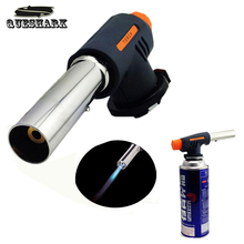 Queshark Outdoor Butane Burn Blower Welding Family Seaside Camping BBQ Brazing gas Torch lighter Flame gun