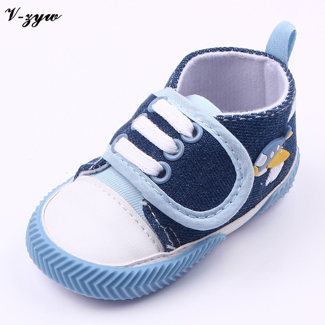 New Boy First Walkers Soft Bottom Boys Girls Breathable Handmade Cotton First Walkers Newborn Shoes Toddler Non-slip Shoes GZ048