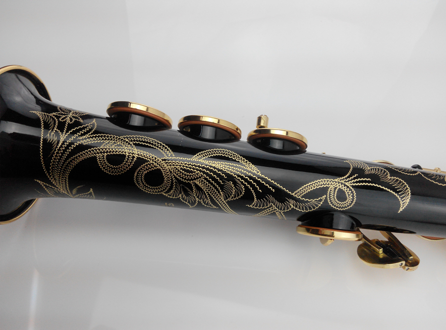 цена на soprano saxophone High quality free shipping Top 802 Selmer Saxophone Sopranos B flat black color gold key professional shipping