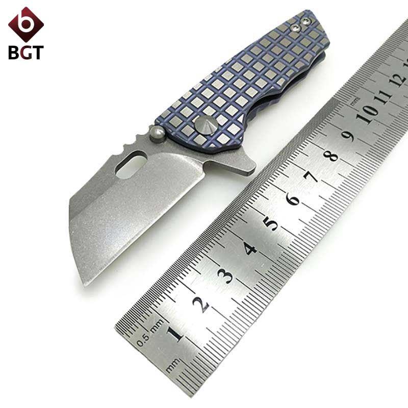 Bean Folding Hunting Pocket Knife S35VN Titanium Camping Tactical Survival EDC Outdoor Knives Combat Rescue Utility Multi Tool bearing d2 folding utility knife tactical survival knives with steel handle hunting outdoor combat pocket multi edc tools