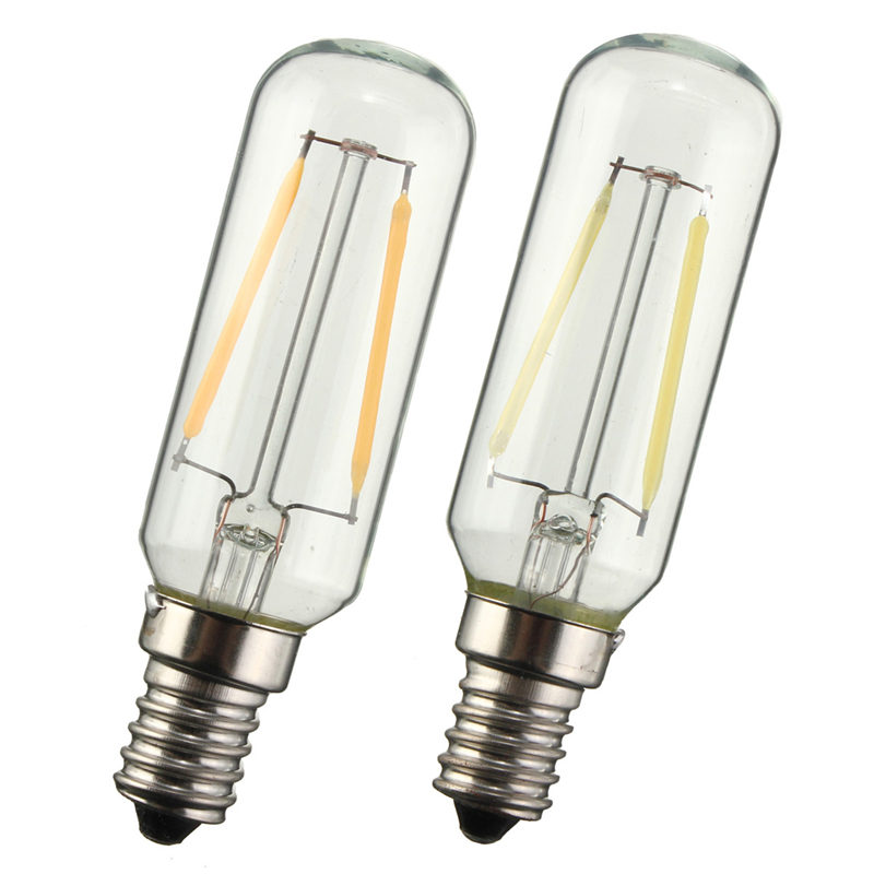 Vintage Edison Bulb E14 LED Light T25 3W 300 Lumen Cooker Hood Filament Lamp Extractor Fan Bulb Warm White/White Lighting 220V 5pcs e27 led bulb 2w 4w 6w vintage cold white warm white edison lamp g45 led filament decorative bulb ac 220v 240v