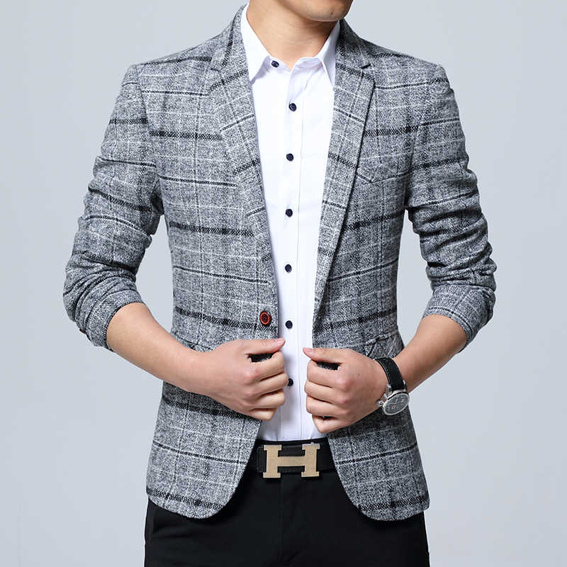 a75999be3f7 2018 New Arrival Brand Clothing Jacket spring Suit Jacket Men Blazer  Fashion Slim Male Suits Casual