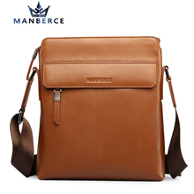 2016 European And American Fashion Casual Men Genuine Leather Messenger Bag Design Famous Manberce Brand Men's Shoulder