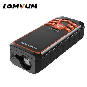 Image 3 - LOMVUM de carga USB 77U mano Trena telémetro láser Digital láser metro de distancia eléctrica de la cinta de medición de herramientas 40 M  120 M
