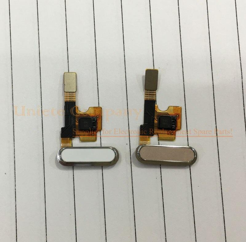 White Black Fingerprint Sensor Flex Cable for Xiaomi 5 Mi5 Original Home Button with Metal Bracket Replacement Spare Parts