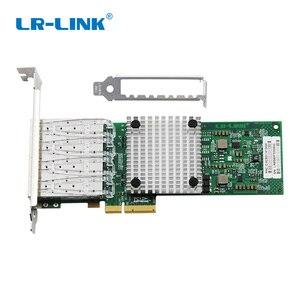 Image 2 - LR LINK 9704HF 4SFP Quad Cổng PCI E Sợi Quang Mạng Gigabit Ethernet Adapter Intel 82580 I340F4/E1G44HF Tương Thích
