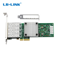 LR LINK 9704HF 4SFP Quad Port Fiber Optical Network Card PCI E Gigabit Ethernet Adapter Compatible Intel 82580 I340F4/ E1G44HF