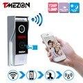 Tmezon control inalámbrico wifi del teléfono video de la puerta de intercomunicación teléfono 720 p hd 1.0mp cámara ip al aire libre onvif sistema de timbre de interfono p2p
