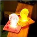 Mini Tarjeta de Bolsillo Portátil LED Lámpara de luz nocturna de la batería powered led lámpara bebé lámpara de ahorro de energía led 12 v luz noche