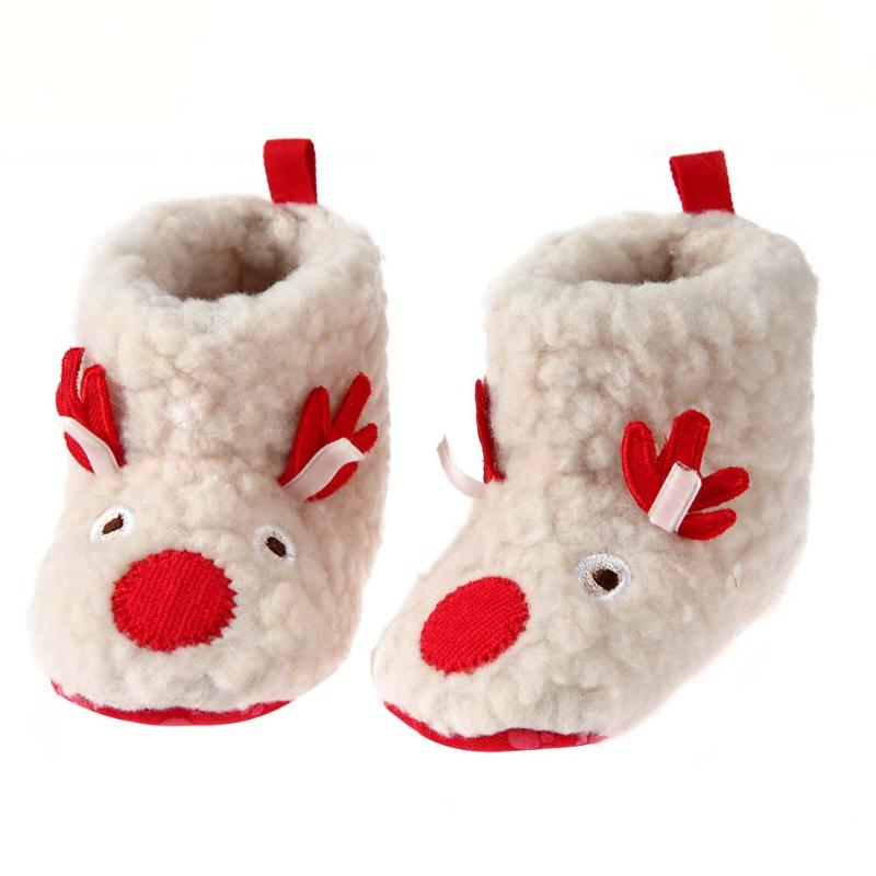 2017 Winter Warm Baby Snow Boots Cute Cartoon Toddler Baby Boy Girl Non Slip Fleece Boot Newborn Soft Sole Shoes First Walkers