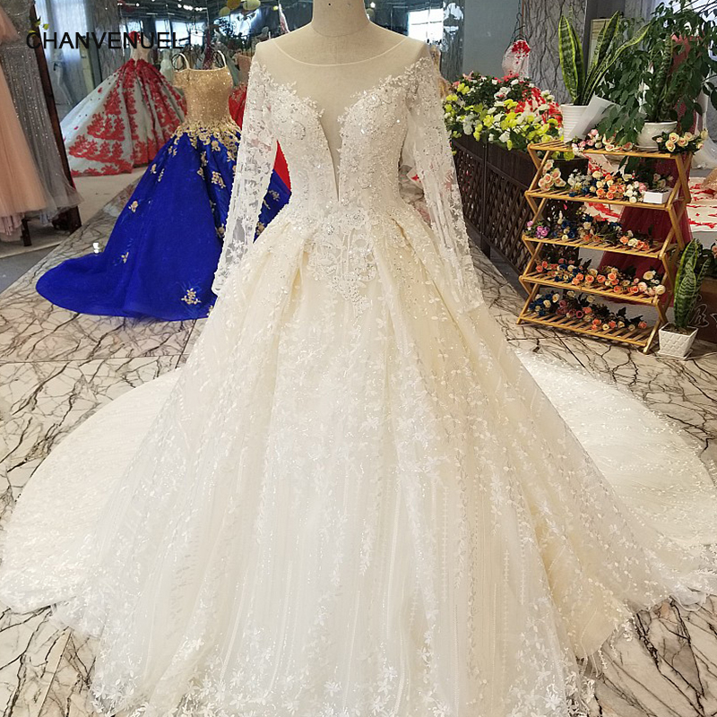 Keyhole Wedding Gowns: LS14702 See Through Long Sleeve Beauty Wedding Gown Made
