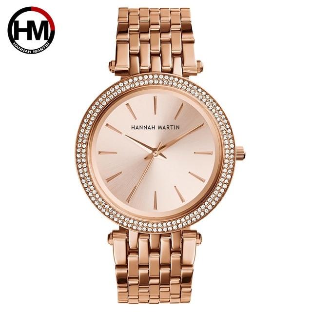 Women Top Brand Luxury Quartz Movement Watches Fashion Business Stainless Steel Diamond Dial Waterproof Ladies Wristwatches