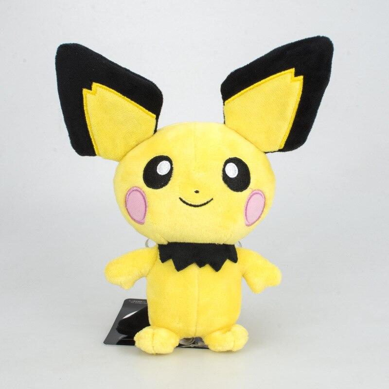 pikachu evolution pichu little yellow mouse kawaii plush cute toys for children gift soft Japan pikachu kawaii Anime doll figurine