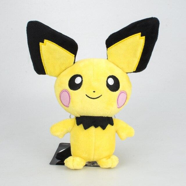Evolução pichu pikachu amarelo pequeno rato de pelúcia kawaii brinquedos bonitos para crianças presente macio Japão pikachu kawaii Anime boneca