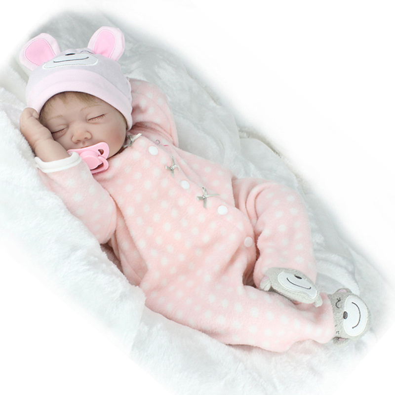55 cm 22 inch Reborn Dolls with Soft Real Gentle Touch Realistic For baby little gilr Gifts Christmas Reborn Doll Toys little cute flocking doll toys kawaii mini cats decoration toys for girls little exquisite dolls best christmas gifts for girls