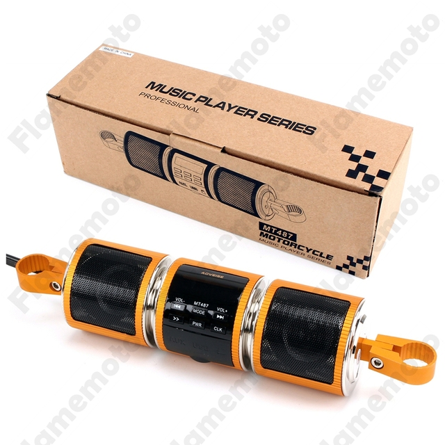 Waterproof Motorcycle Parts Audio System Bluetooth MP3 Player FM Radio Speaker USB