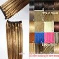 #8/613 70g 80g 100g 120g 140g 160 5gthick Extensión Brasileña Del Pelo de remy del pelo humano extensiones Flip En la Extensión Del Pelo Humano