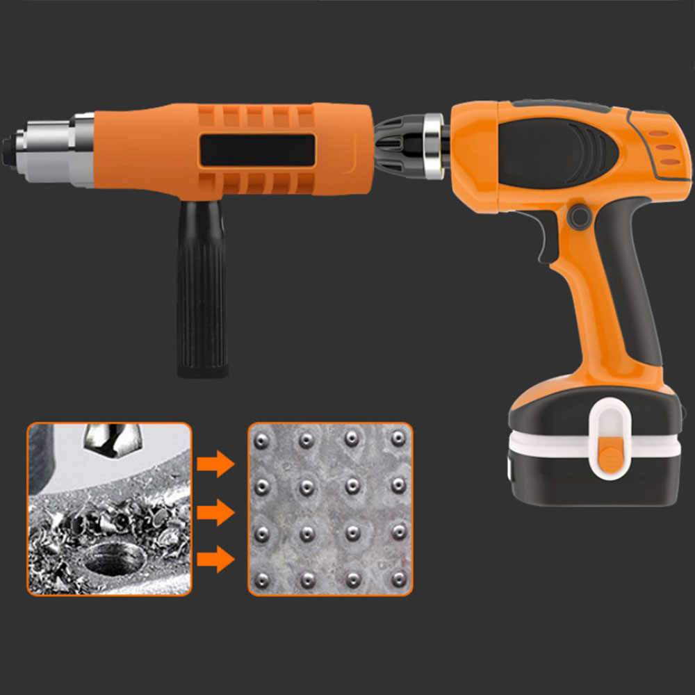 Riveting Tool Drill Adapter Upgraded Electric Rivet Nut Gun Cordless Riveter Adaptor for Electric Drill