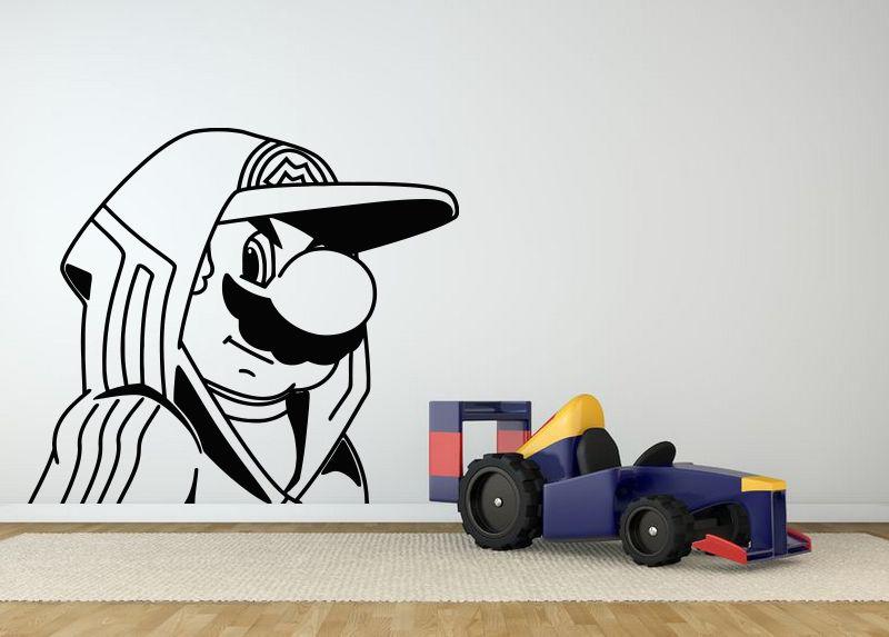Cartón de Pared Decoración de la Habitación Etiqueta Del Vinilo Del Arte Mural D