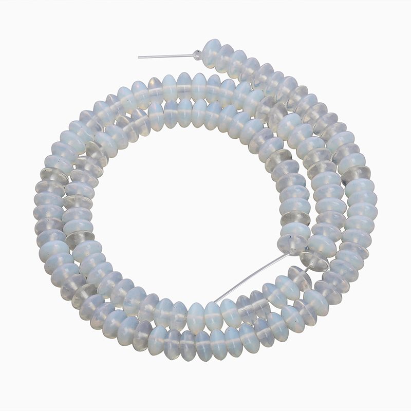 White Natural Stone Beads Necklace