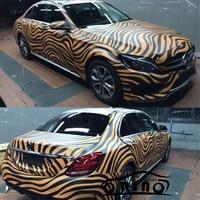 ORINO Zebra Pattern Vinyl Wrap Film Graffiti DIY Car Camouflage Sticker Automobiles Motorcycle Full Body Wrapping Covering