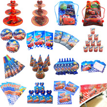 Disposable Cute Cartoon Dinsey Cars Theme McQueen Candy Box Family Party Baby Shower Birthday Party Decoration Supply