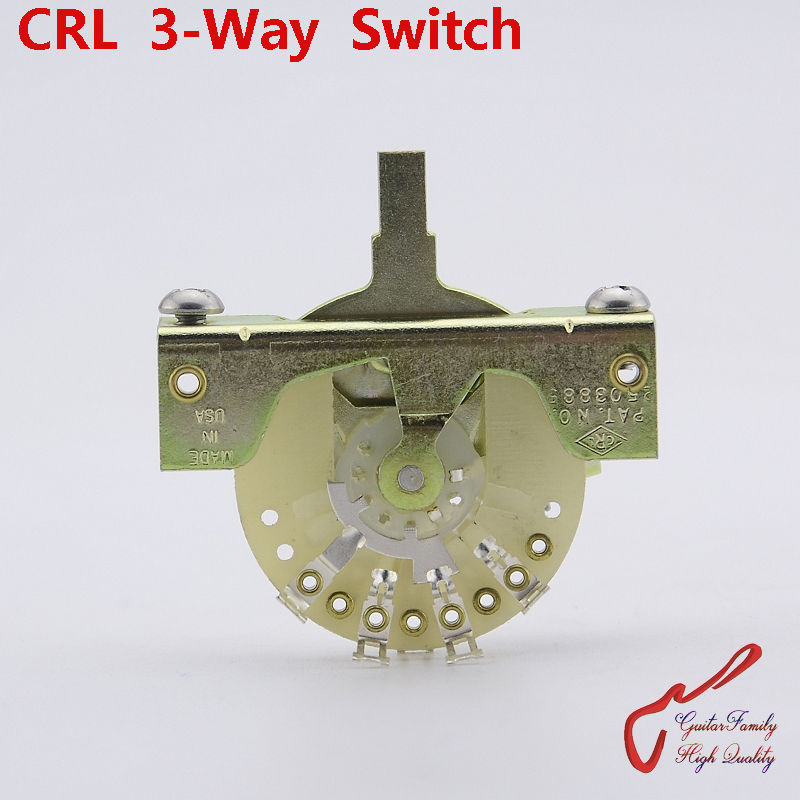 1 Piece Original Genuine GuitarFamily CRL 3-Way Electric Guitar Switch Pickups Switch ( without tip ) MADE IN USA 1 piece guitarfamily 2502n 5 way guitar pickup selector switch 1229 made in korea
