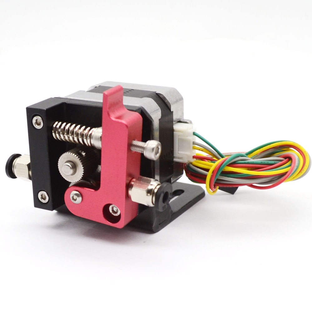 Best price 1 set MK8 extruder purple wire feed device kits (left and right side) with motor  42SHD0001  for Makerbot 3D printer
