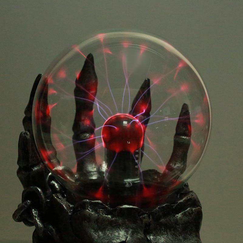 1Piece Treasure Skull Touch Electronic Luminous Magic Ball Form Plasma Sphere Nebula Lig ...