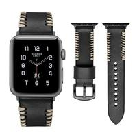for Apple Watch Band 42mm Premium Vintage Genuine Leather Replacement Watchbands for Apple Watch Series 3 2 1 Sport and Edition
