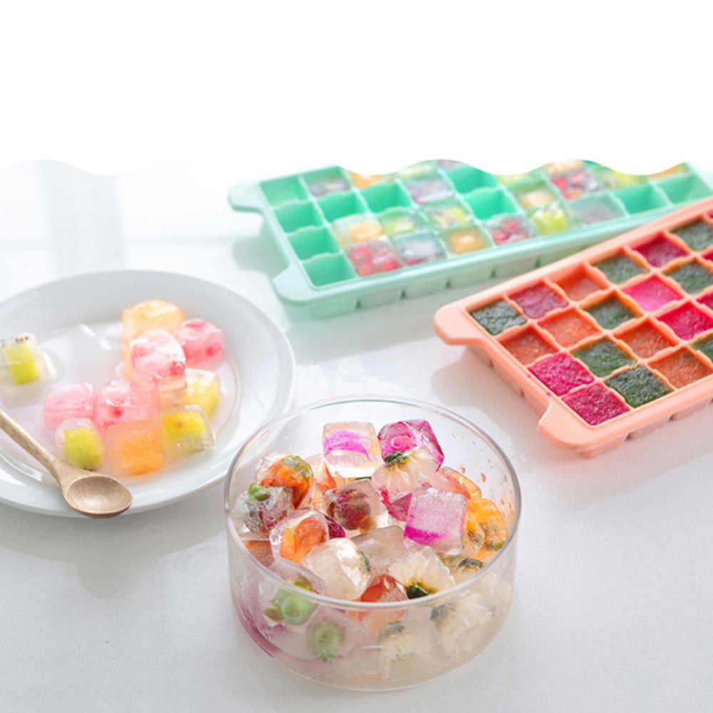 36 Grid Food Grade Silikon Es Nampan Buah Ice Cube Maker DIY Kreatif Kecil Cetakan Es Batu Bentuk Persegi Dapur aksesoris