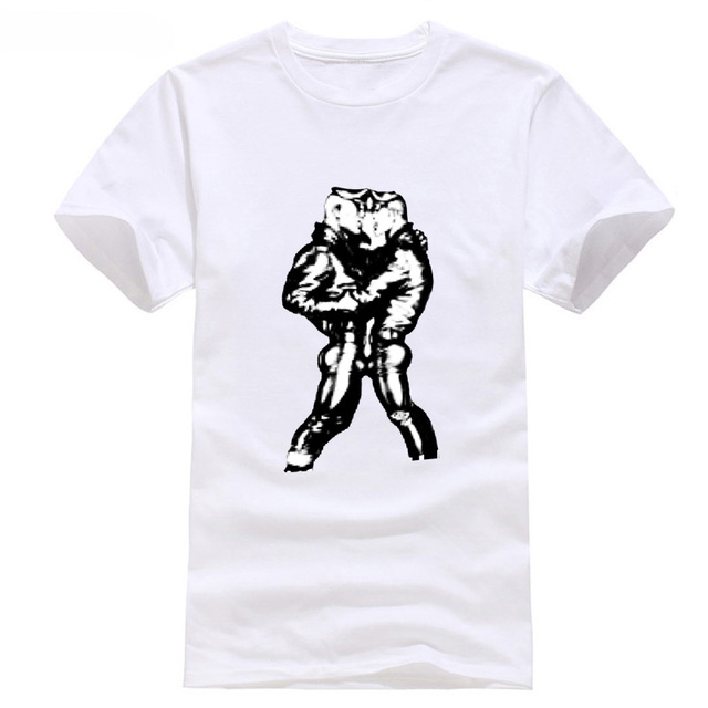 Tom of Finland Gay Leather Fetish Homoerotic Art Muscle Men's T-Shirt Pride  Shirt Fashiont