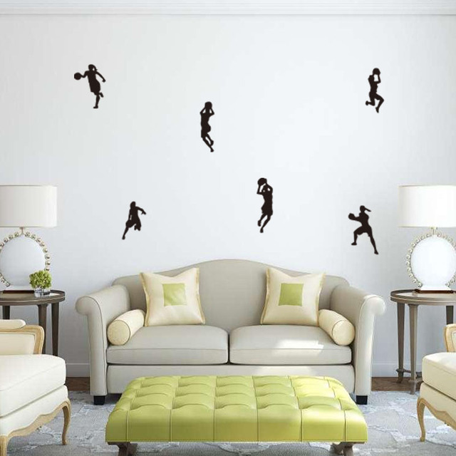 Football Player Women Football Wall Stickers Wall Mural Sweet Home Art Kids  Room Decor