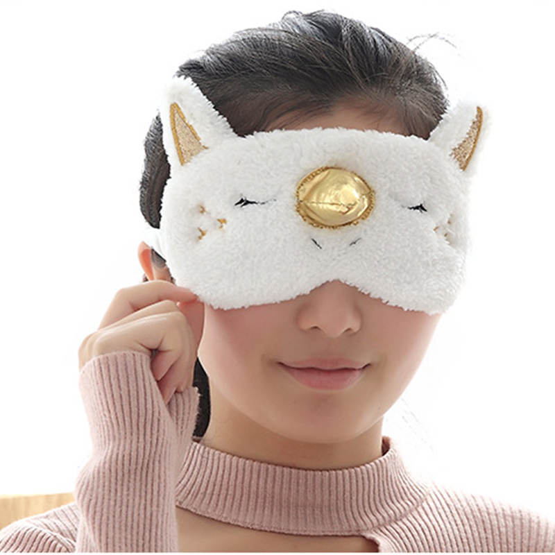 1Pc Lovely Sleeping Unicorn Eye Cover Cartoon Blindfold Eyes Mask Shadow Cover for Girl Kid Traveling SleepHealth Care Tools