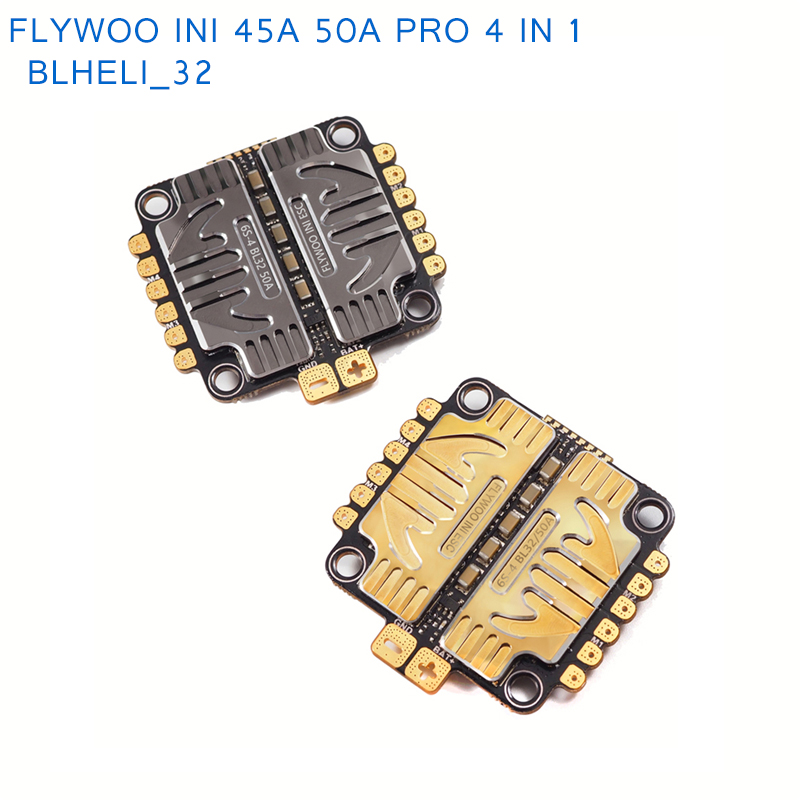 FLYWOO INI 45A 50A pro 4 IN 1 Blheli 32 2 6S DSHOT1200 Brushless ESC Support