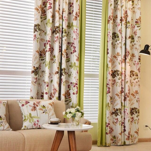 bloemen gordijnen moderne land gordijnen verduisterende gordijnen voor de slaapkamer dikke gordijnen woonkamer venster behandeling stof