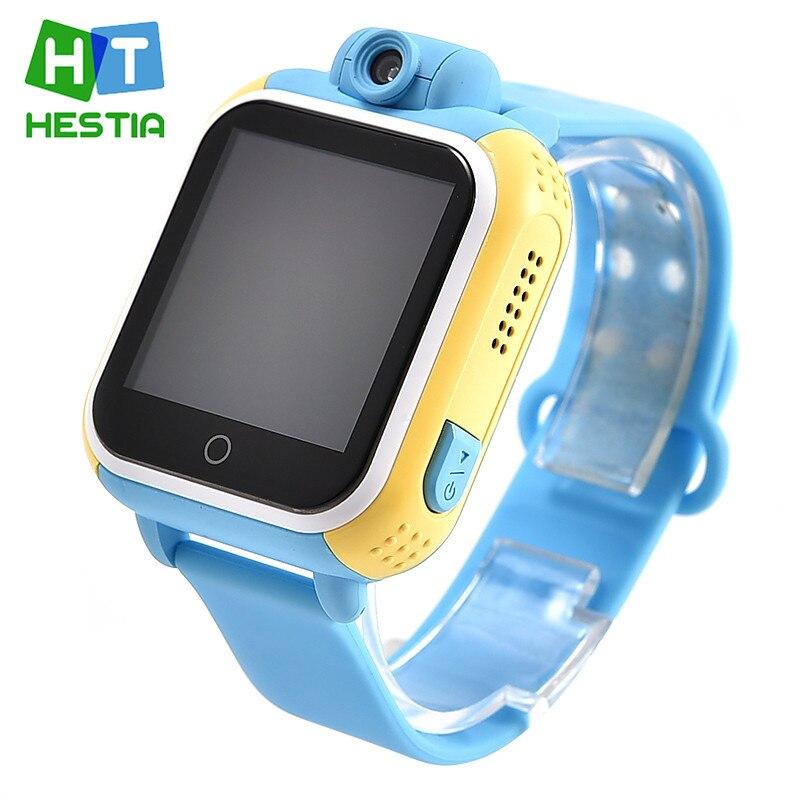 Гестия Смарт-часы детские наручные часы q730 3G GPRS GPS трекер SmartWatch детские часы с нано-карты Камера для IOS android