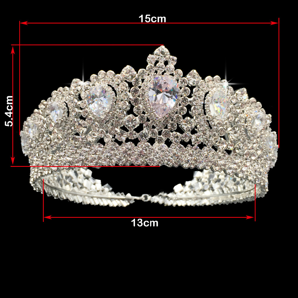 Image 3 - Hadiyana New Bling Wedding Crown Diadem Tiara With Zirconia Crystal Elegant Woman Tiaras and Crowns For Pageant Party BC3232-in Hair Jewelry from Jewelry & Accessories