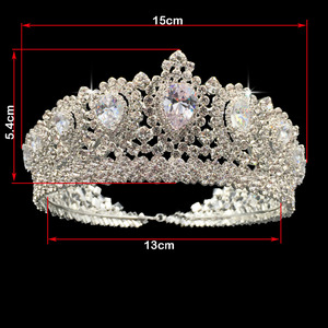 Image 4 - Hadiyana New Bling Wedding Crown Diadem Tiara With Zirconia Crystal Elegant Woman Tiaras and Crowns For Pageant Party BC3232