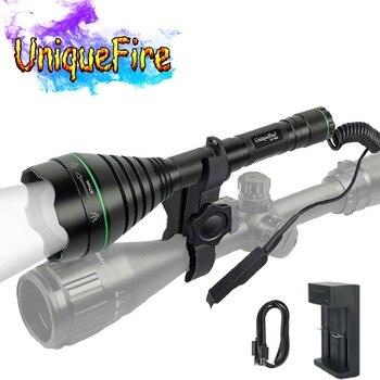 UniqueFire IR 940nm 1508 lampe de poche 67mm lentille Vision nocturne lampe torche lumière LED pour la chasse avec chargeur USB, montage, interrupteur arrière