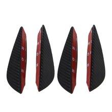 4x Универсальный передний бампер разделитель для губ ребра спойлер