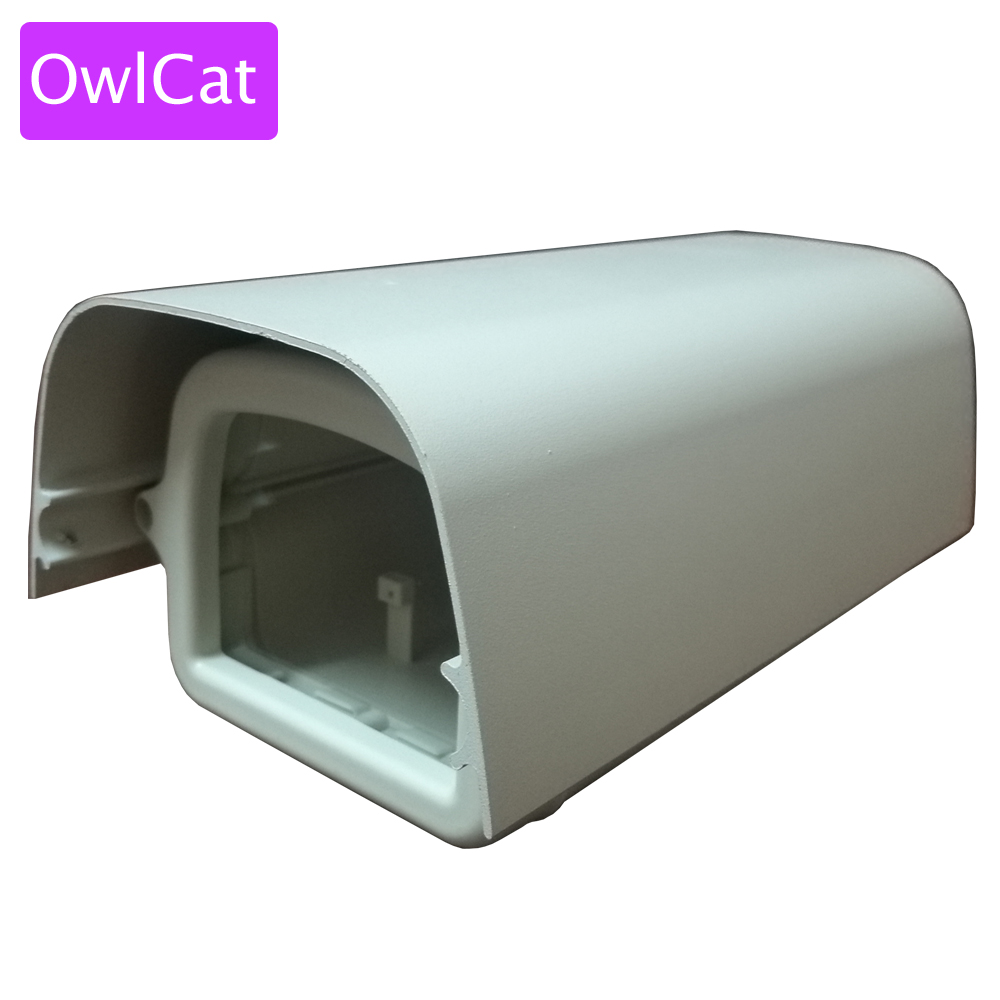 OwlCat Outdoor Waterproof Mini Bullet Camera Housing Case IP66 External Security Surveillance Camera Guard Shield cctv camera housing metal cover case new ip66 outdoor use casing waterproof bullet for ip camera hot sale white color wistino