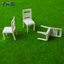 Teraysun 100pcs 1/20 scale Architectural model furniture ABS plastic chair for train layout scenery