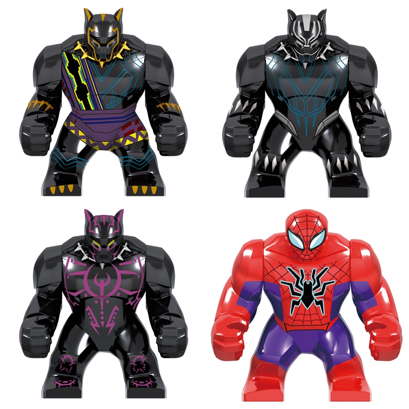 40PCS 7CM Big Size Avengers Endgame Former Panther Vibration Gold Panther Infinity Gauntlet Action Figures Toys