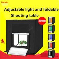 40 см студийный набор СВЕТОДИОДНЫЙ Профессионального фото Продукты softbox мини поле простые украшения свет лампы реквизит CD50 T03