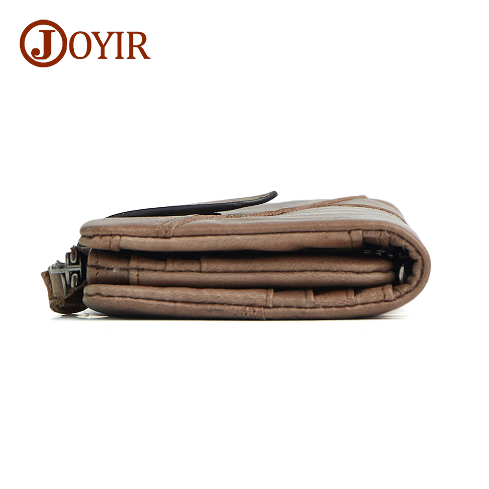 JOYIR 100% Genuine Cowhide Leather Portomonee Vintage Walet Male Wallet Men Long Clutch With Coin Purse Pocket Purse For Men 204