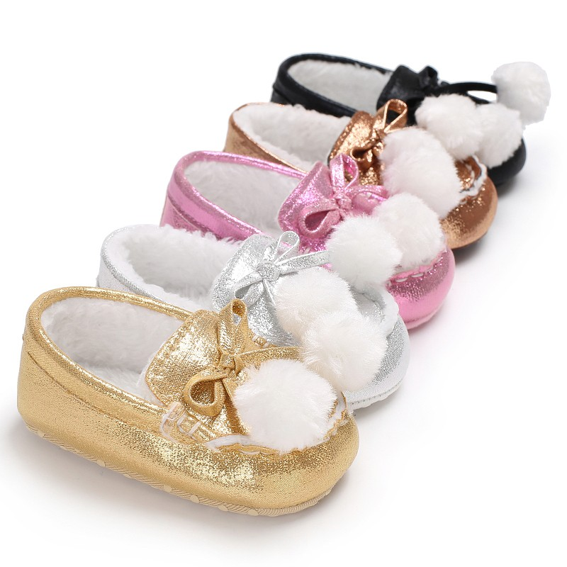 Baby Newborn Infant Toddler Shoes Boys Girls Winter Autumn Loafer Sweet Shoes Keeping Warm Soft Sole First Walker Crib Babe